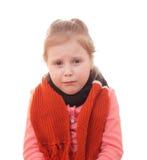 Ziek kind. royalty-vrije stock afbeelding