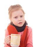 Ziek kind. Stock Foto's