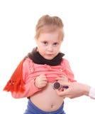 Ziek kind. stock fotografie