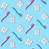 Ziek tanden naadloos patroon Royalty-vrije Stock Afbeelding
