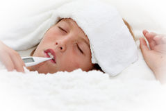 Ziek ziek kind Royalty-vrije Stock Fotografie