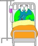 Zieke Aarde stock illustratie