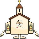 Zieke Beeldverhaalkerk Royalty-vrije Stock Afbeelding