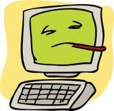 Zieke computer Stock Foto's