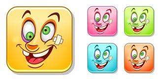 Zieke Emoticons-inzameling royalty-vrije illustratie