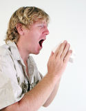 Zieke mens. Stock Fotografie