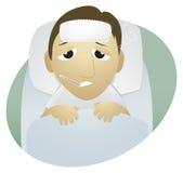 Zieke mens stock illustratie