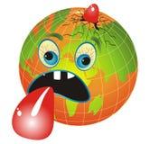 Zieke Planeet vector illustratie