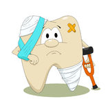 Zieke tand Stock Foto's