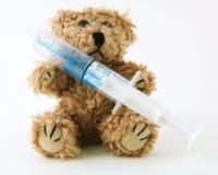 Zieke Teddy Royalty-vrije Stock Afbeelding