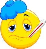 Zieken emoticon stock illustratie