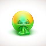 Zieken emoticon met tong uit - vectorillustratie Royalty-vrije Stock Foto's
