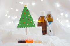 Zieken in Kerstmis Stock Afbeelding