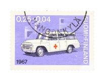 Ziekenwagen op een zegel stock afbeelding