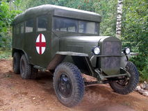 Ziekenwagen tijdens de Tweede Wereldoorlog Stock Afbeelding