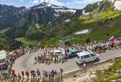 Ziekenwagen van Le-Ronde van Frankrijk Stock Afbeeldingen