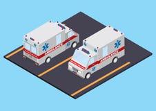 Ziekenwagen voor en achtermening Stock Afbeeldingen