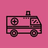 Ziekenwagenpictogram Vlak Ontwerp Stock Afbeeldingen