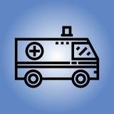 Ziekenwagenpictogram Vlak Ontwerp Royalty-vrije Stock Foto's