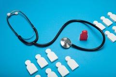 Ziektekostenverzekeringconcept, geneeskundekliniek stock afbeelding