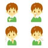 Ziektesymptomen 02 vector illustratie