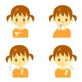 Ziektesymptomen 02, meisje vector illustratie