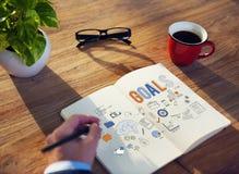 Ziel-Ziel-Aspiration glauben Traum-Erwartungs-Konzept lizenzfreie stockfotografie