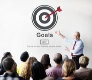 Ziel-Aspirations-Träume glauben Ziel-Ziel-Konzept Stockfoto