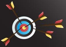 Ziel-Bogenschießenkunst-Vektorhintergrund Stockbild