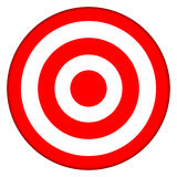 Ziel-Bullauge-Stier-Auge Stockfoto