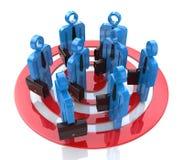 Ziel an der Geschäftsgruppe Lizenzfreies Stockbild
