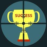 Ziel-Erfolgs-Schale Lizenzfreies Stockbild