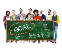 Ziel-Erwartungs-Ziel-Auftrag-Ziel-Konzept Lizenzfreies Stockfoto