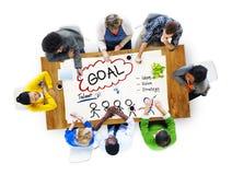 Ziel-Erwartungs-Ziel-Auftrag-Ziel-Konzept Lizenzfreie Stockfotografie