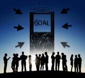Ziel-Erwartungs-Ziel-Gelegenheits-Erfolgs-Konzept Lizenzfreie Stockbilder