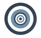 Ziel für die Pfeile lokalisiert auf Weiß stockfoto