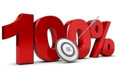 Ziel hundert Prozent Lizenzfreie Stockfotos