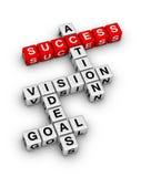Ziel, Ideen, Vision, Aktions-Kreuzworträtsel Stockbild