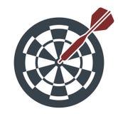 Ziel-Ikone, Vektor-Illustration Lizenzfreie Stockfotografie