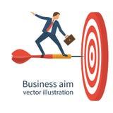 Ziel im Geschäft Vektor Stockfoto