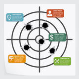 Ziel infographic Lizenzfreies Stockbild