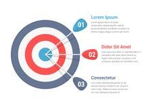 Ziel Infographics lizenzfreie abbildung