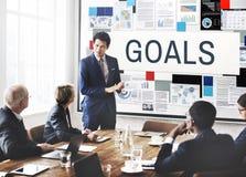 Ziel-Inspirations-Ziel-Motivations-Auftrag-Ziel-Konzept Stockfotos