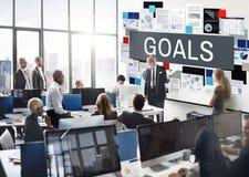 Ziel-Inspirations-Ziel-Motivations-Auftrag-Ziel-Konzept Lizenzfreie Stockfotos