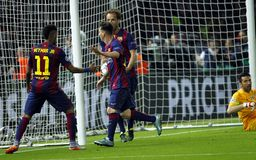 Ziel Lionel Messi FC Barcelone Lizenzfreies Stockfoto