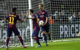 Ziel Lionel Messi FC Barcelone Stockbilder