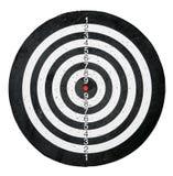 Ziel mit Schwarzweiss-Kreisen stockfoto