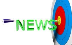 Ziel-Nachrichten Stockbild
