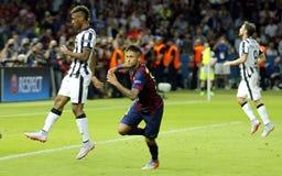 Ziel Neymar-jr. FC Barcelone Stockbild