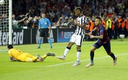 Ziel Neymar-jr. FC Barcelone Lizenzfreie Stockfotos